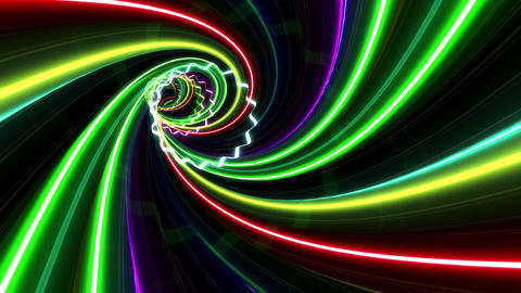 Tunnel Neon Tube YL 2 4k Animation