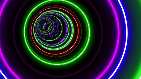 Tunnel Neon Tube CL 1 4k Animation