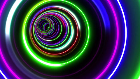Tunnel Neon Tube CL 2 4k Animation