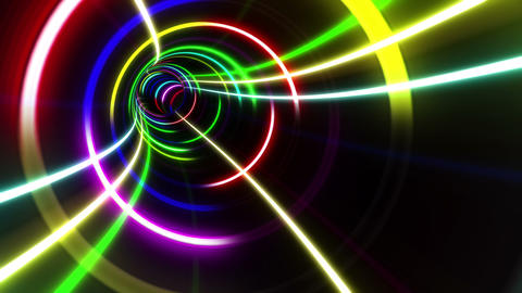 Tunnel Neon Tube CS 2 4k Animation
