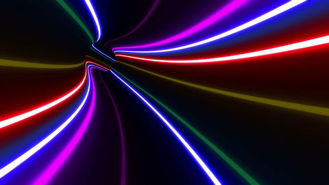 Tunnel Neon Tube DL 1 4k Animation