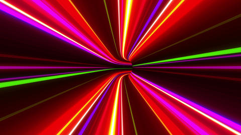 Tunnel Neon Tube DL 3 4k Stock Video Footage