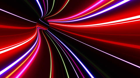 Tunnel Neon Tube DL 3 4k Animation