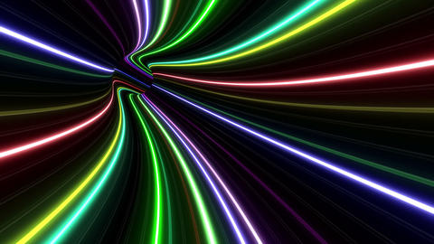 Tunnel Neon Tube EL 2 4k CG動画