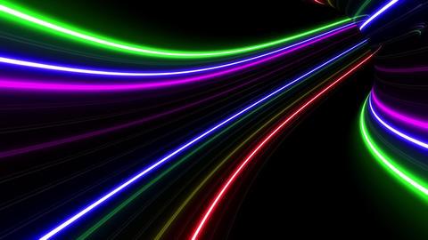 Tunnel Neon Tube FL 1 4k CG動画