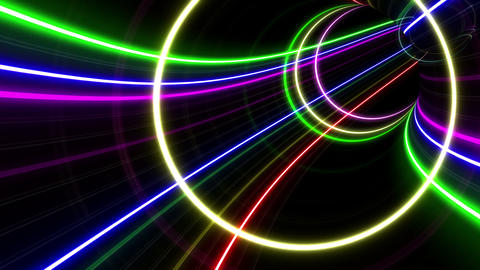 Tunnel Neon Tube FL 2 4k Animation