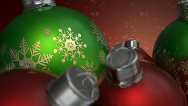 Christmas Baubels Colour Pan 2 stock footage