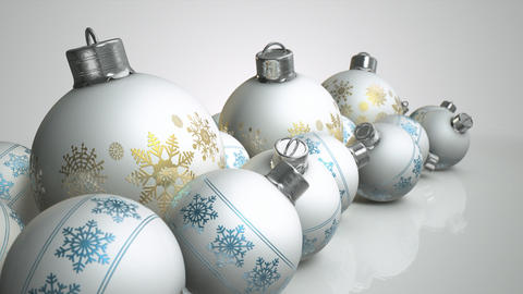christmas baubels white pan Animation