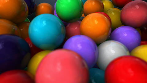 Gum Balls Pan Out stock footage