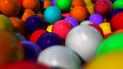 Gumball Closeup Pan stock footage