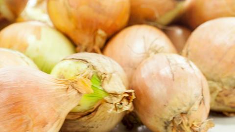 Raw onion Footage