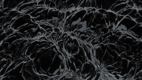 Black noisy matter. (loop-ready file Animation