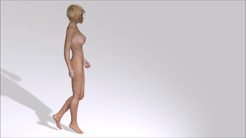 Woman walking Stock Video Footage
