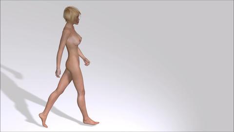 Woman walking Animation