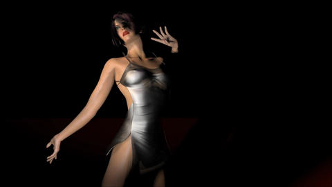 Woman dancing Animation