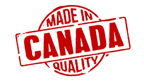 Red Rubber Stamp Made In Canada Animation