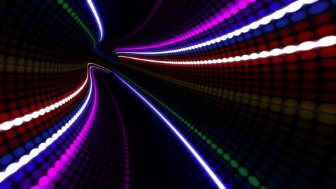 Tunnel Neon Tube DL 1b 4k Animation