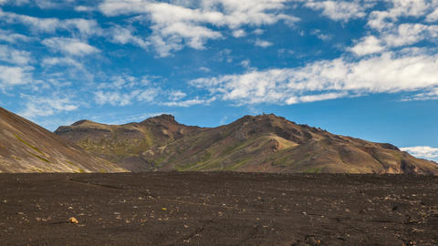 volcanic landscape in Iceland Stock Video Footage