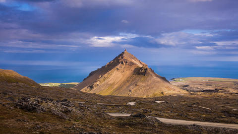 volcanic landscape in Iceland Footage