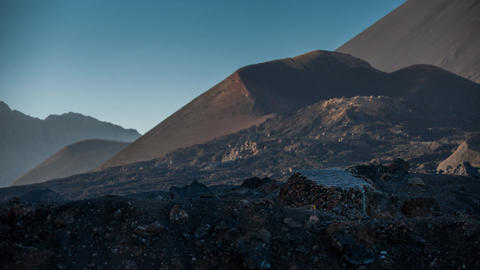 volcanic landscape on Fogo Stock Video Footage