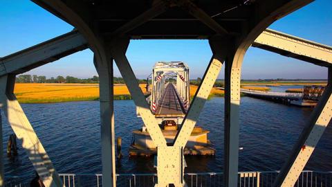 turning bridge Stock Video Footage