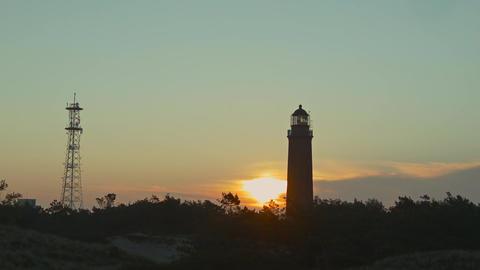 lighthouse at sunrise Footage