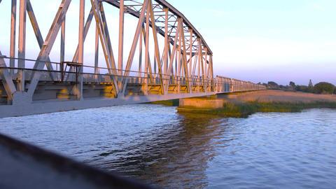 swing bridge Stock Video Footage