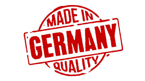 Red Rubber Stamp Made In Germany Animation