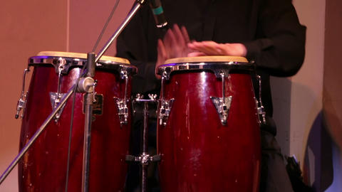 Musician Plays Percussions Stock Video Footage