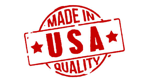Red Rubber Stamp Made In USA Animation