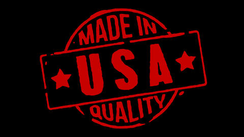 Red Rubber Stamp Made In USA Stock Video Footage