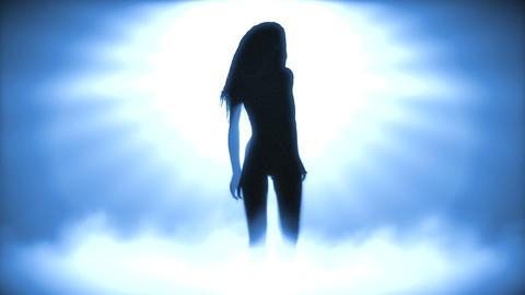 Sexy Dancing Girl 2 (Strobe Light) Stock Video Footage