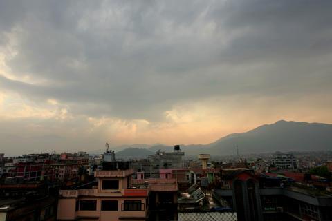 4K. Timelapse sunset in Kathmandu. Nepal, Ultra HD Footage