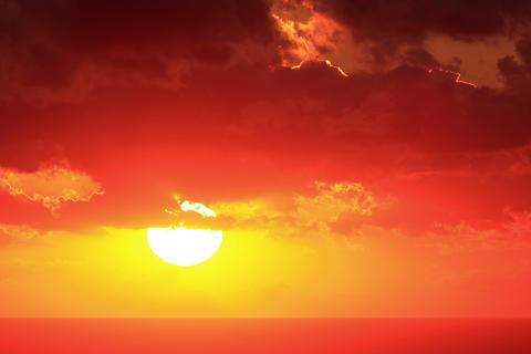 4K. Timelapse sunset on the sea. Crimea, Russia. U Stock Video Footage