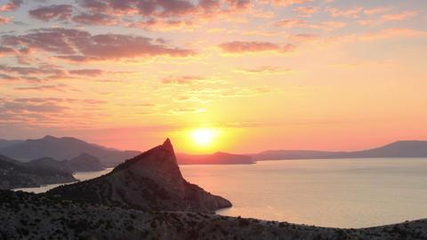 Timelapse sunrise in the mountains. Noviy Svet, Cr Stock Video Footage