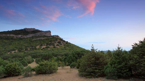 Timelapse sunset in the mountains Sokol. Noviy Sve Footage