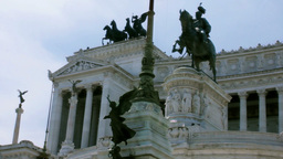 Close Up Altare Della Patria Rome 29,97fps stock footage