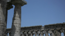Greek Temples Under Blue Sky 25fps stock footage