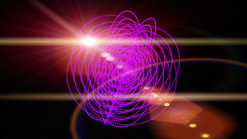 Circle ring Neon Glow light,Abstract fractal point geometry science fiction Footage