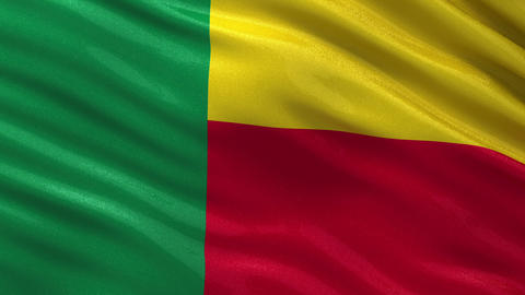 Flag of Benin seamless loop Animation