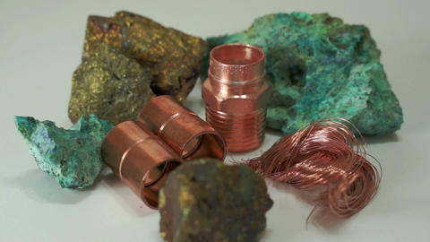 Copper Minerals Finished Products Dolly Footage