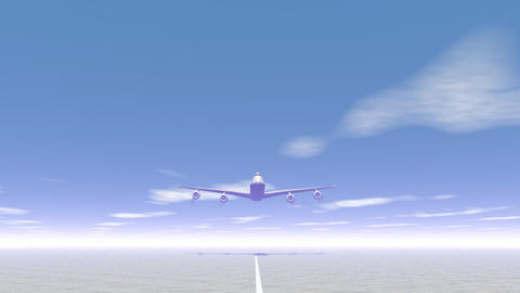 Plane Taking Off - 3D Render stock footage