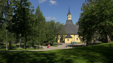 The Church In Lappeenranta. Finland. 4K stock footage