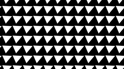 Black and white pattern of rotating pyramids Animation