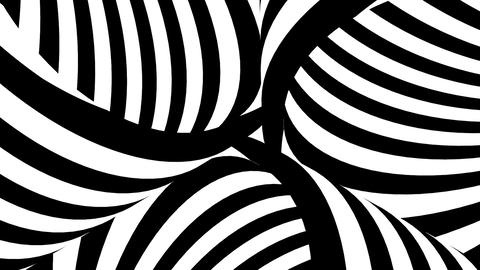 Black and white tubes with moving stripes Animation