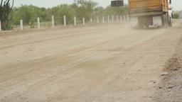 Dump Truck Dirt Road Fast Pan Stock Video Footage