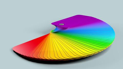 Color Palette Sampler Animation