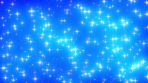 Blue Looping Glowing Stars Background 2 dense fast Animation