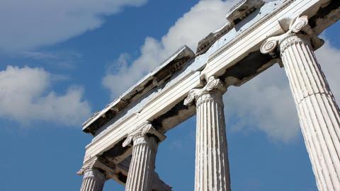 Acropolis Of Athens 4k Footage