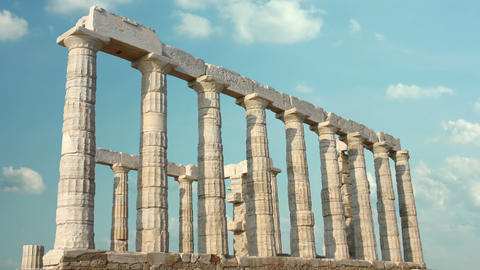 Greek Columns 4k stock footage